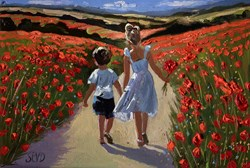 Joyful Memories by Sherree Valentine Daines - Original Painting on Board sized 16x11 inches. Available from Whitewall Galleries